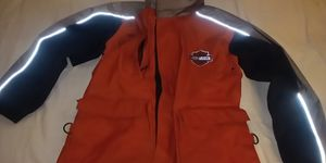 Orange/black/grey men's x-sm Harley-Davidson Motorclothes jacket winter rain jacket w hoodie for Sale in St. Petersburg, FL