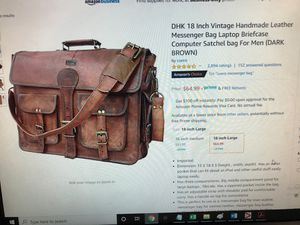 Cuero 18 inch vintage handmade messenger bag for Sale in Mesa, AZ