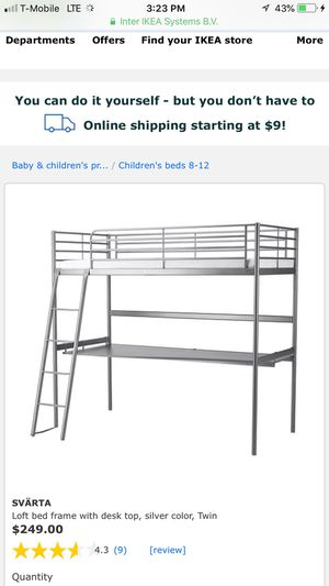 Hardly used IKEA Bunk bed and desk for Sale in Youngstown, OH