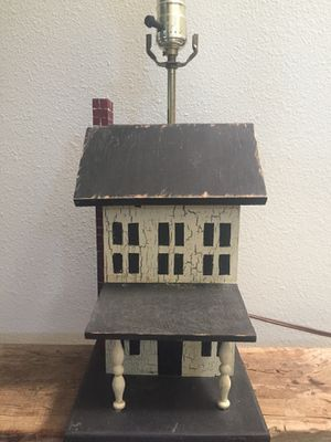 Folk art Lamp- vintage - hand painted for Sale in Brea, CA