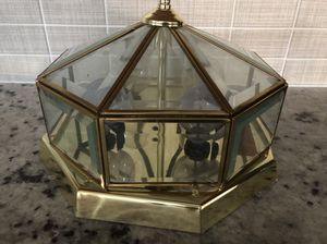 Brass Flush mount light fixture for Sale in Stockton, CA