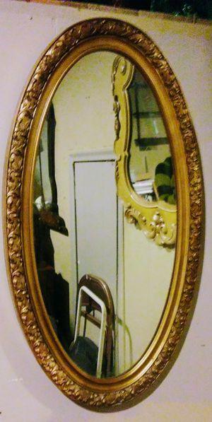 Elegant Gold Oval Mirror for Sale in Salt Lake City, UT