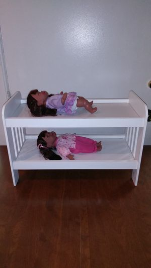 Bomp bed and 2 dolls for Sale in Annandale, VA