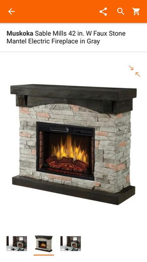 New in box 42in Electric fire place w faux stone for Sale in Westchester, IL