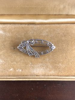 14k white gold antique brooch for Sale in Beverly,  MA