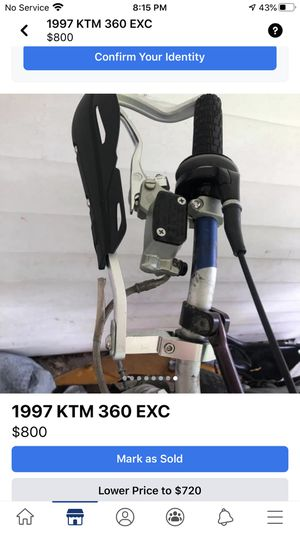 1997 ktm 360 exc for Sale in Quincy, IL