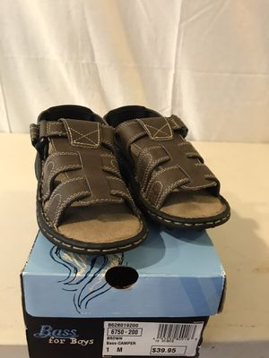 Bass for boys sandals size 1 new in box for Sale in Thornton, CO