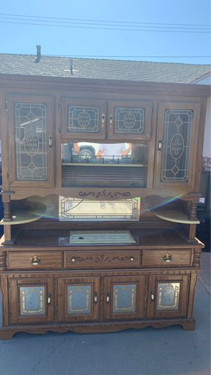 Antique oak china cabinet for Sale in Buena Park, CA