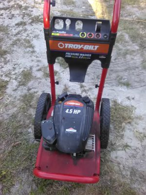 Troy bilt pressure washer as is has good compression for Sale in Tampa, FL