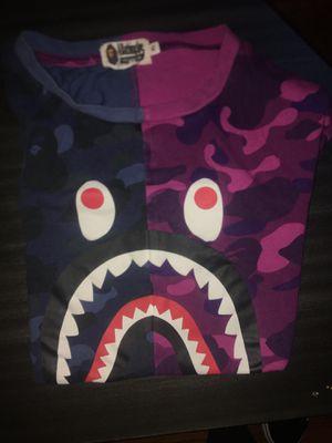 authentic bape shirt purple/blue camo for Sale in Philadelphia, PA