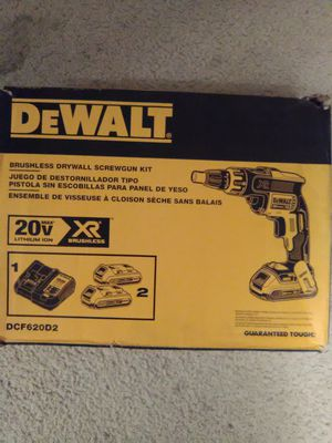 DeWalt 20 volt brushless xr drywall screwgun kit brand new for Sale in Federal Way, WA