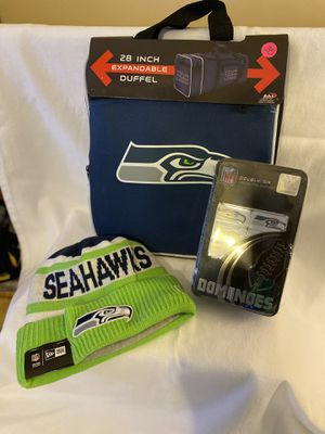 Seattle Seahawks beanie duffle bag double six dominoes for Sale in Memphis, TN