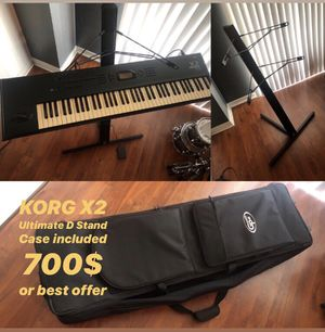 Korg X2 76 keys comes with Ultimate Stand and Case for Sale in Land O' Lakes, FL