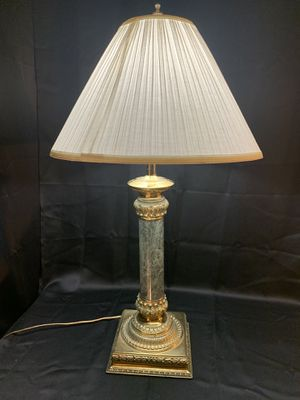 Green marble and brass lamp for Sale in Las Vegas, NV