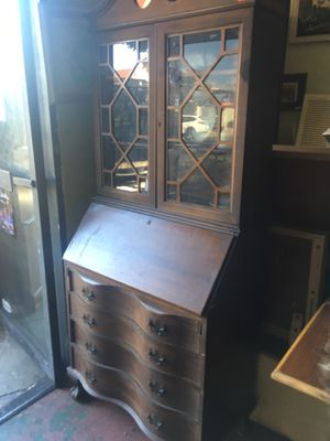 Vintage antique mahogany hutch secretary desk $150 measures 31 x 28 x 74 opened for Sale in San Diego, CA