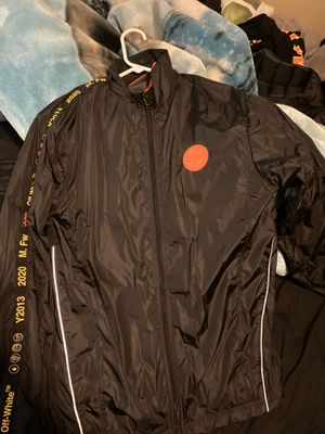 Off white nylon track jacket for Sale in Hood River, OR