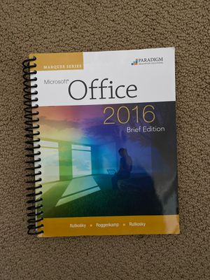 Microsoft Office 2016 brief edition for Sale in Gilbert, AZ
