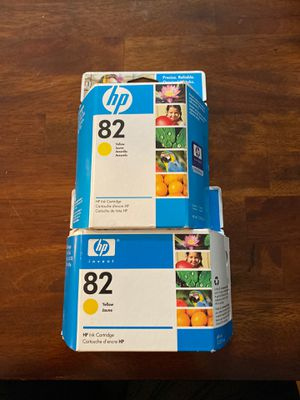 HP 82 ink cartridges (yellow only) for Sale in Fairfax, VA