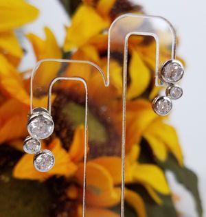 Beautiful Sterling Silver 925 Tiffany Women's Earrings for Sale in Katy, TX