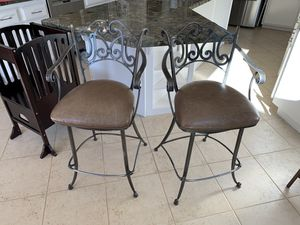 Iron and leather barstools for Sale in San Diego, CA
