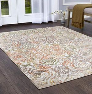 Home Dynamix Melrose Audrey Retro Classic Area Rug, 8x10, Ivory/Orange Beautiful stylish rug - BRAND NEW 8X10 for Sale in Glendale, AZ