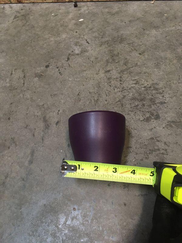 Small purple planter pot