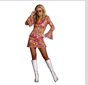 Halloween Hippie Costume Retro Dress Medium 1960's Vintage for Sale in Arcadia, CA