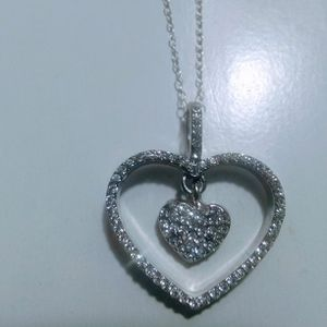 Beautiful ❤️ Stainless Steel Heart Necklace 🎁🎁🎁Pick It Up In Lake Worth for Sale in West Palm Beach, FL