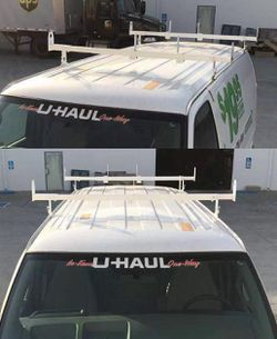 New in box adjustable 2 bars rain gutter mount ladder rack with ladder stopper for Sale in San Dimas,  CA