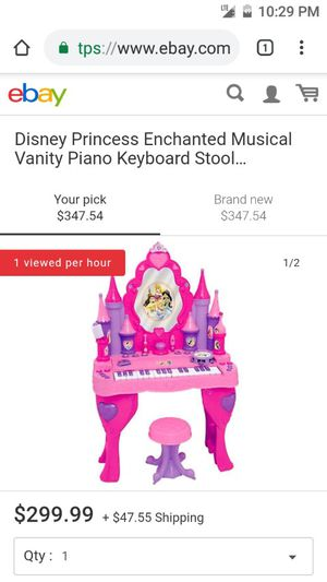 Disney princess enchanted musical piano keyboard vanity (missing stool) used for Sale in Salt Lake City, UT