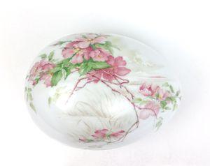 Vintage Limoges France Wild Rose Egg Shaped Fine Porcelain Trinket Bo for Sale in Norwalk, CA