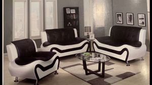 Brand New Modern White Leather Three Piece Couch Set. Sofa / Love / Chair All Included. Can Deliver Today! for Sale in Portland, OR