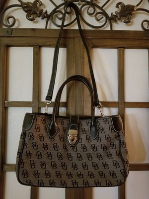 Dooney and Bourke Signature Anniversary Monogram Logo Tote Bag Satchel Black/Grey for Sale in Chandler, AZ