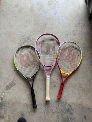 3 Wilson Tennis Rackets for Sale in Fontana, CA