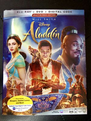 "Disney Movie ""ALADDIN"" Bluray + Dvd + Digital Code for Sale in Norwalk, CA"