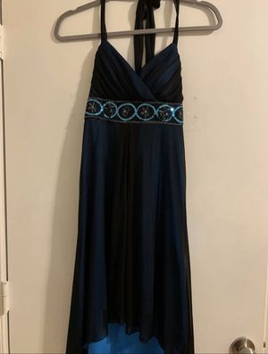 High-low halter blue sequin formal long dress for Sale in Silver Spring, MD
