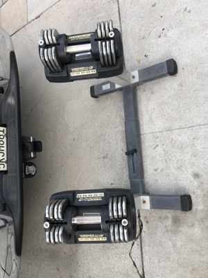 Weider power Weight set with stand for Sale in Glendale, CA