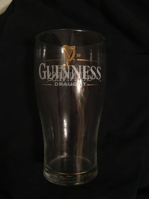 Guinness beer drinking glass for Sale in Rose Valley, PA
