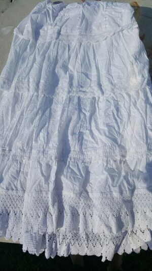By Denim 24/7 long white skirt tie waist size 24w for Sale in West Palm Beach, FL
