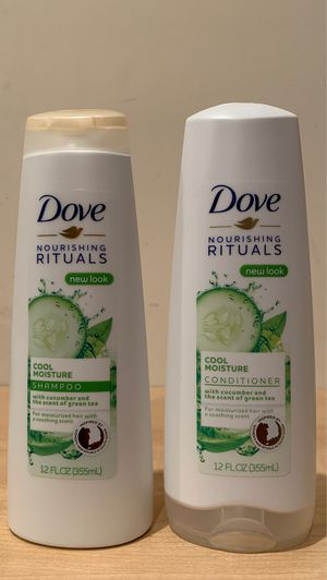 Dove Nourishing Rituals cool moisture shampoo & conditioner 12 oz: both for $4 for Sale in Alexandria, VA