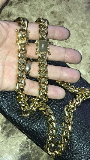 Chain and bracelet set for Sale in Poinciana, FL