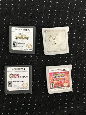 Pokémon Omega Ruby, Pokémon Y, Kingdom Hearts Re-coded, Chrono Trigger for Sale in Littleton, CO