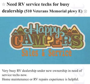 Need RV techs for very busy dealership I. Lafayette Indiana for Sale in Lafayette, IN