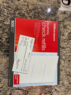 Office Depot business check refills for Sale in Fort Worth, TX