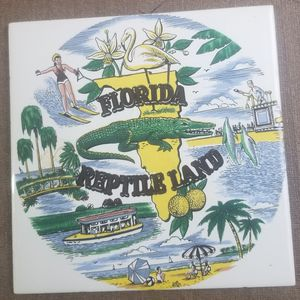 Florida Pilkington England Ceramic Tile Trivet for Sale in Three Rivers, MI