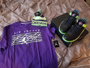 Fresh prince of Bellaire jordans with shirt and beanie for Sale in Sugar Land, TX