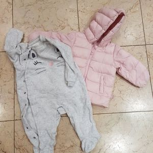 Winter Jacket And Warm Onesie 6-9 Months for Sale in Philadelphia, PA
