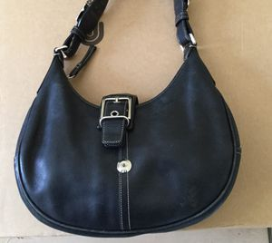 Brand new Black leather Coach handbag for Sale in Arvada, CO