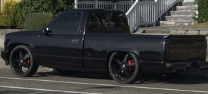 """24 """" rims black out 5x5 lug pattern for Sale in Ruston, WA"""