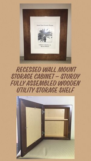 Recess Wall Mount Storage Cabinet for Sale in Moreno Valley, CA